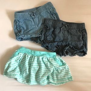 Shorts and skirt with bloomers